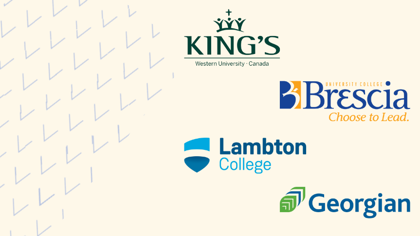 TA Graphic with Ontario College Logos