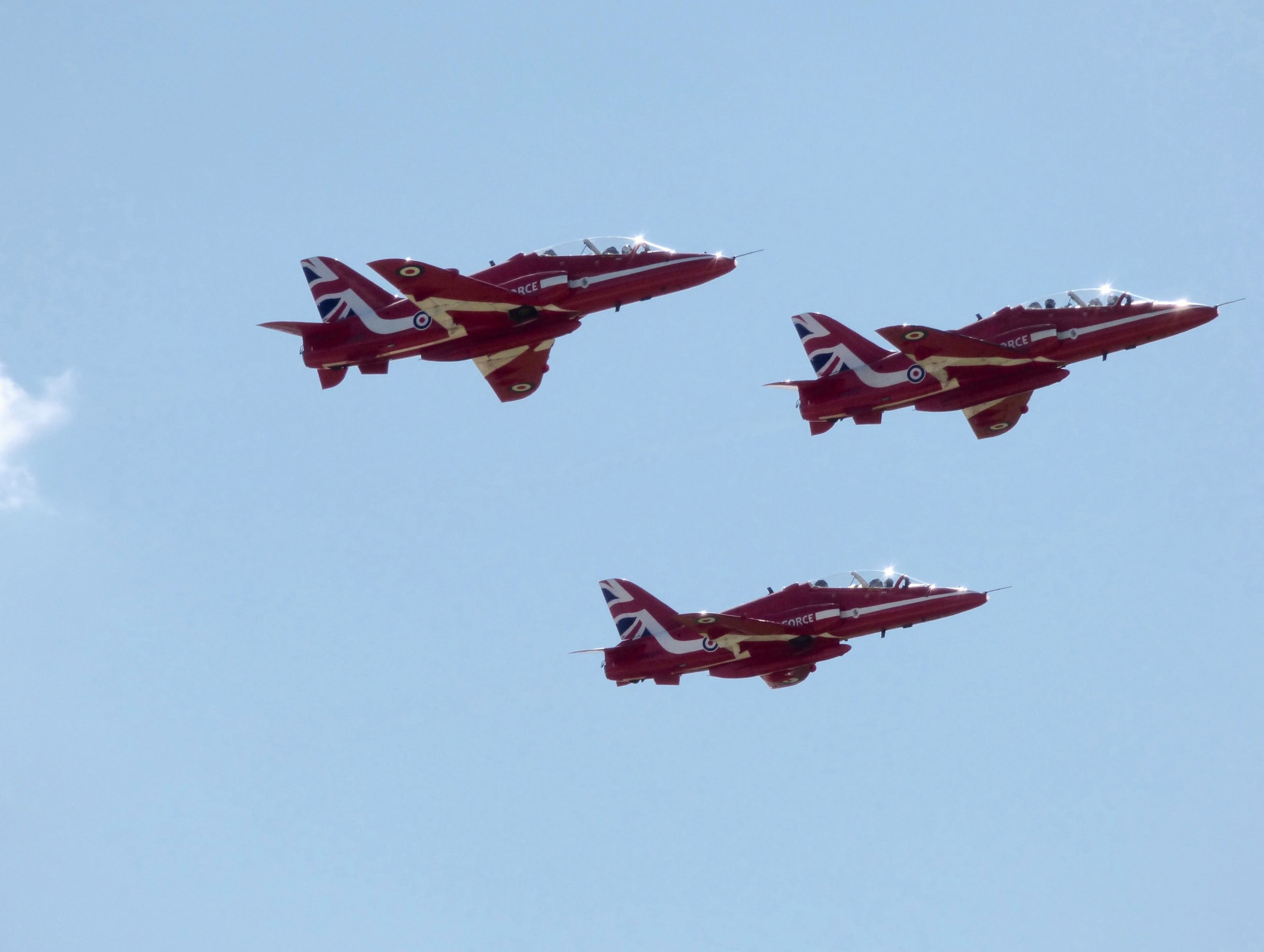 RAF Red Arrows flying in the sky