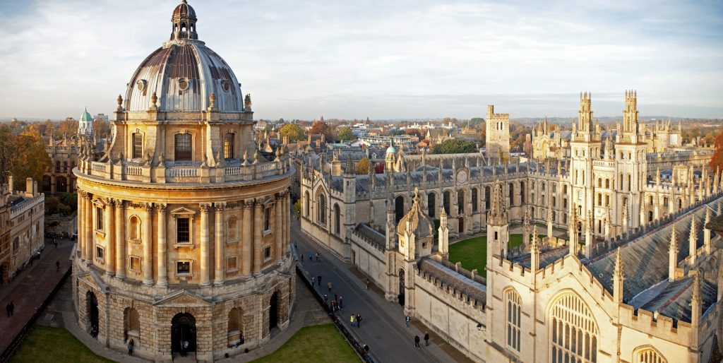 View of the University of Oxford main campus