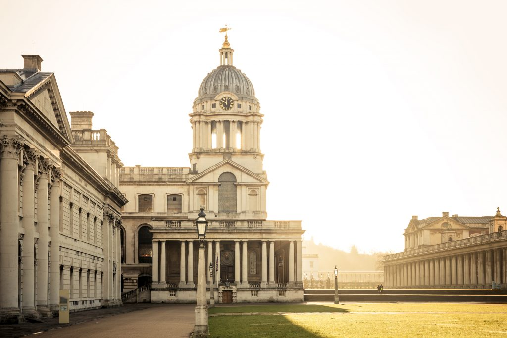 View of the University of Greenwich campus