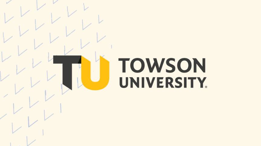 Togetherall Graphic with Towson University Logo