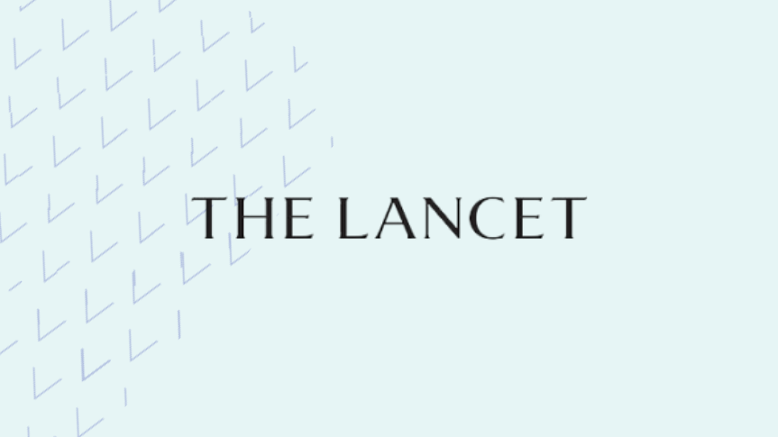 The lancet logo with background